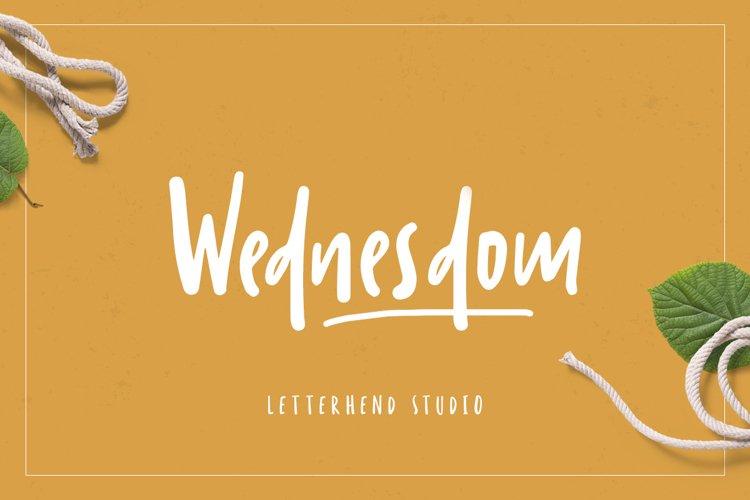 Wednesdom Playful Font example image 1