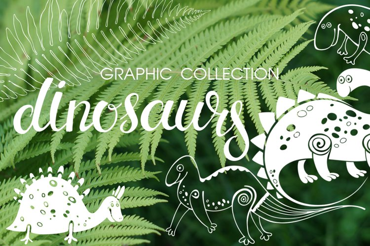Dinosaurs. Graphic collection. example image 1