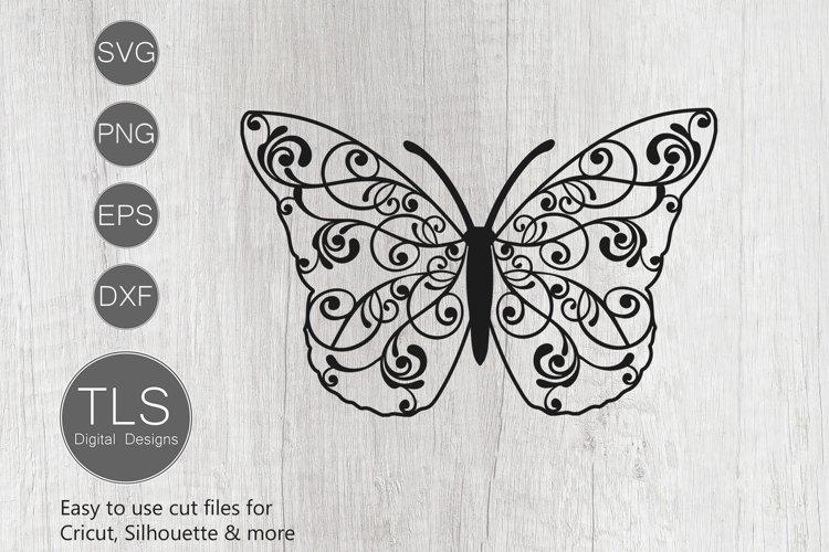 Butterfly Swirl SVG, Butterfly SVG, Fancy Butterfly Cricut