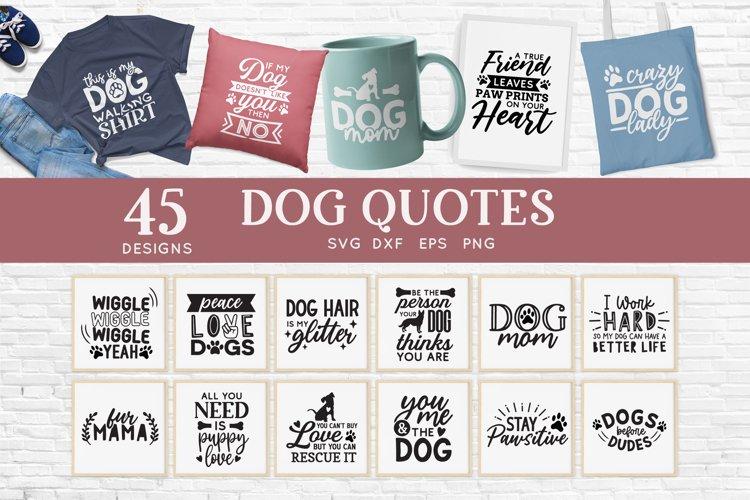 Dog Mom svg bundle - dog quotes svg png eps dxf example image 1