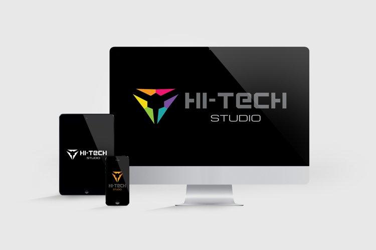 Modern Hi-Tech Logo example 1