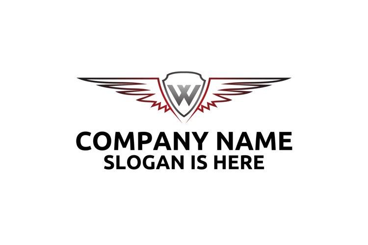 W letter logo design . Angel wing vector letter logo design example image 1