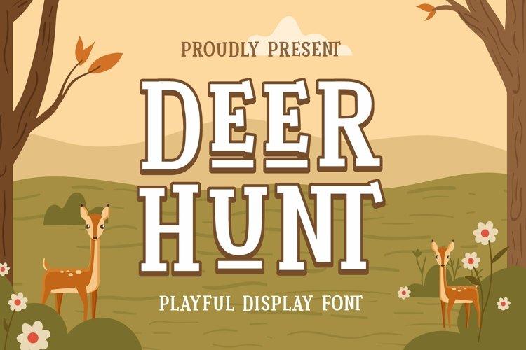 Web Font Deer Hunt Font example image 1