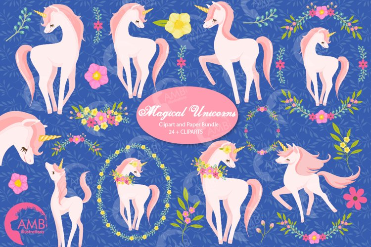 Magical Unicorns cliparts AMB-2195 example image 1