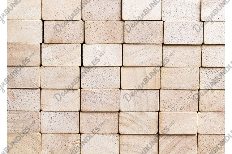 cubes made of bamboo wood example image 1