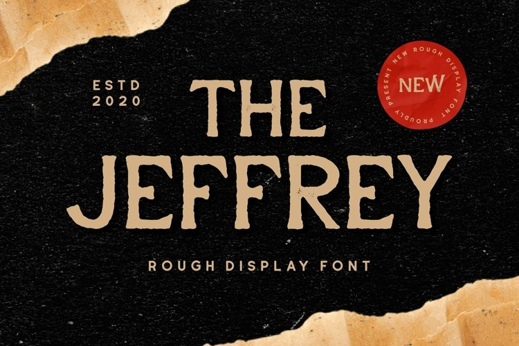 Web Font Jeffrey - Display Font example image 1