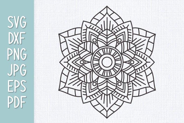 Mandala Flower SVG example image 1