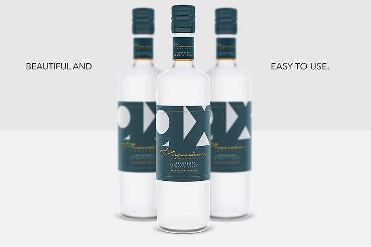 Beverage Mockup - Glass - Frosted Bottle - Matte Label - example image 1