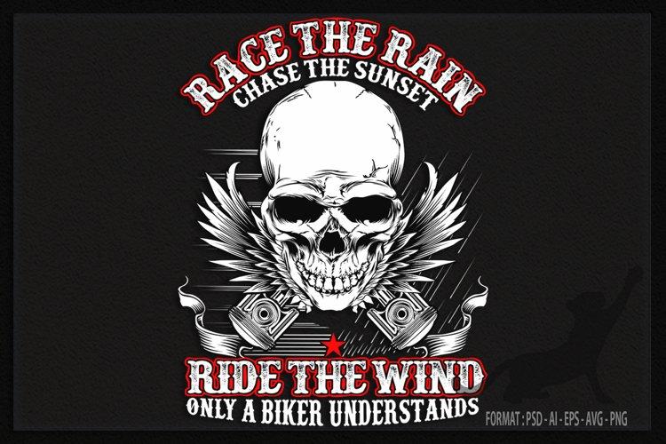 Biker Rain and Wind example image 1
