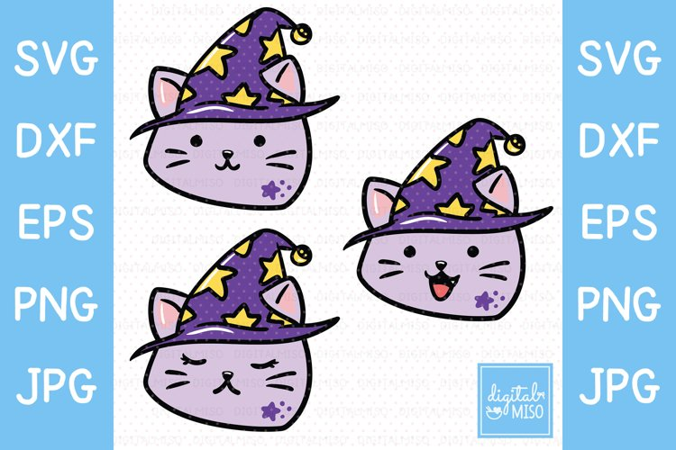 Witch Kitty SVG - Halloween Vector example image 1