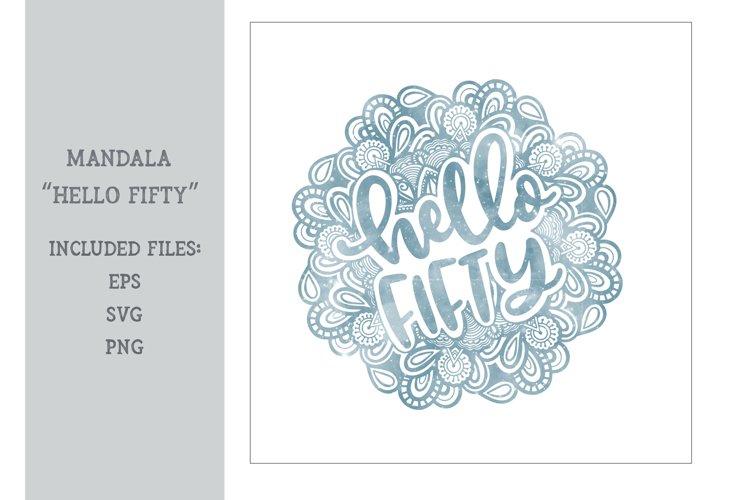 Mandala - Hello Fifty example image 1