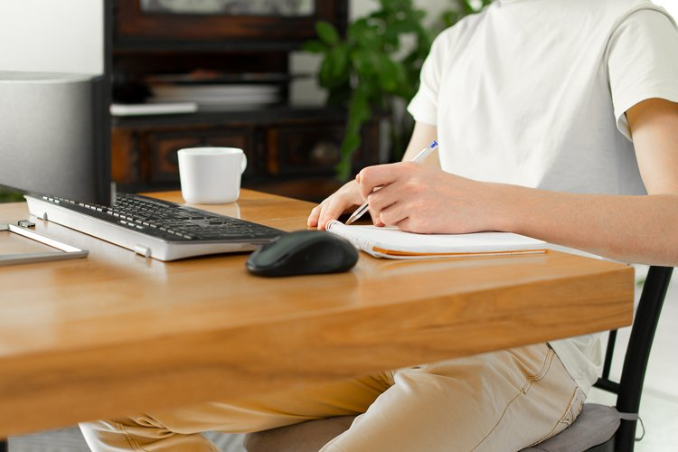 works at home. freelancer. remote work example image 1