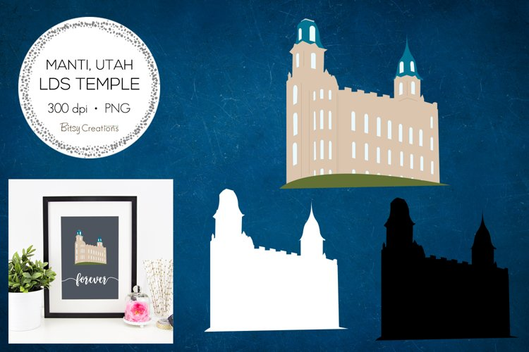 Manti Utah LDS Temple Clipart example image 1