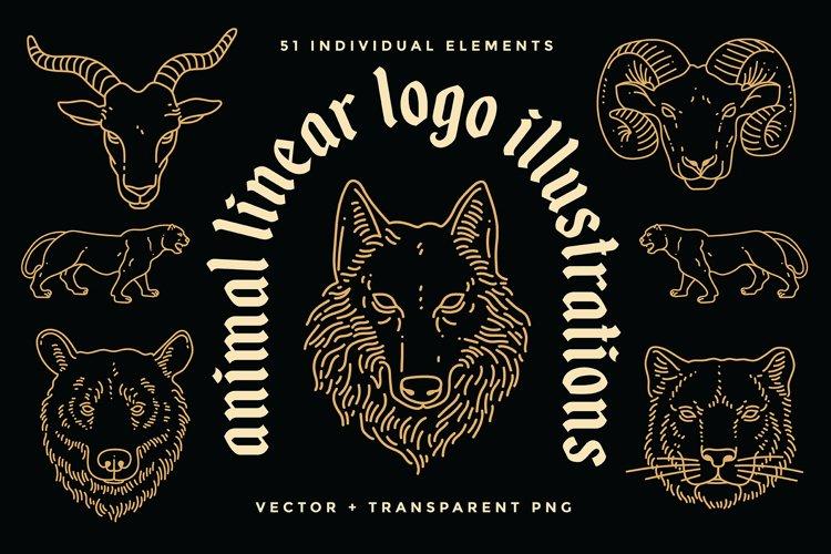 Animal Linear Logo Illustrations