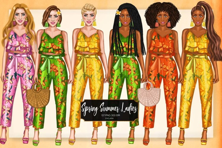 Spring Clipart Fashion Girl Clipart African American Girls
