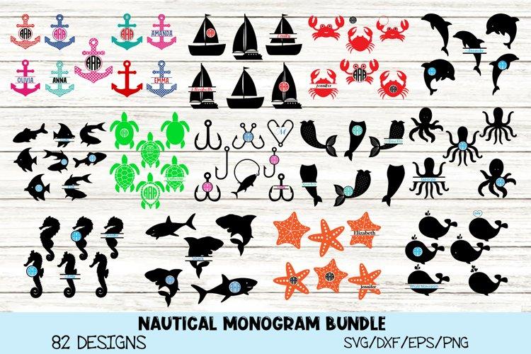 Nautical SVG Bundle, Nautical Monogram SVG Bundle. example image 1