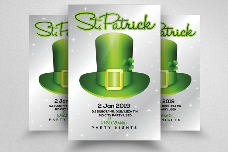 St Patricks Flyer Template example image 1