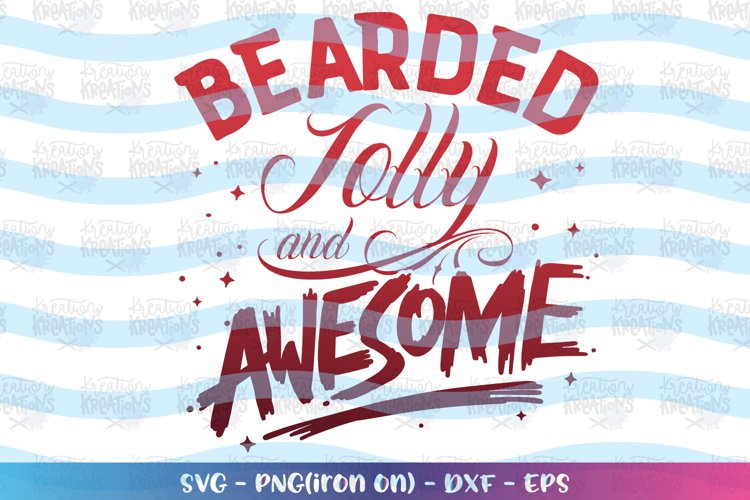 Christmas svg Bearded jolly and awesome tatto dad santa example image 1