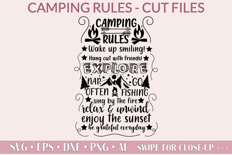 Camping rules SVG - Explore SVG, Camping SVG, cut files, png