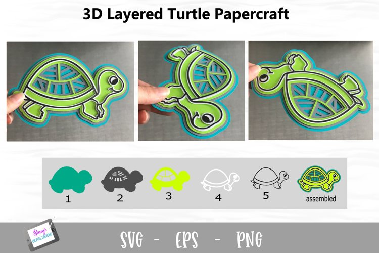 3D Layered Turtle SVG Design