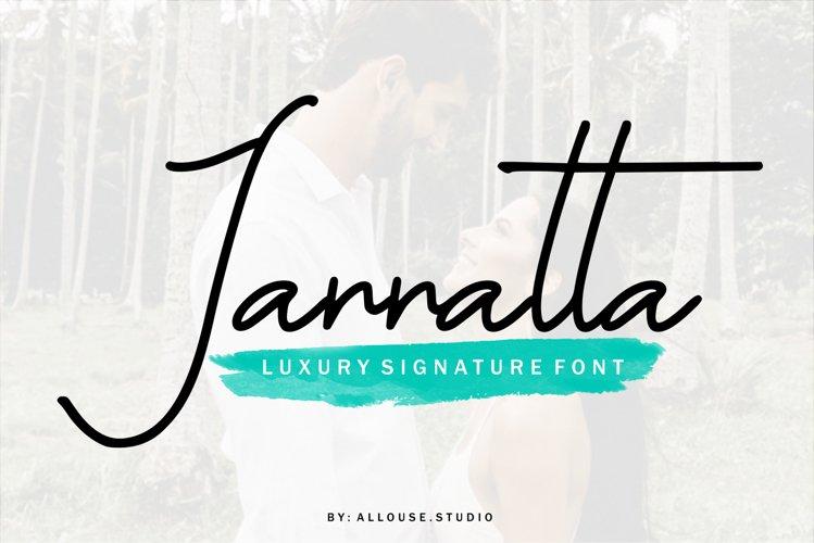 Web font - Jannatta - Luxury Signarute Font example image 1