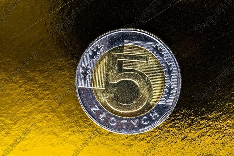 Polish zlotys in the form of metal coins