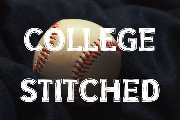 College Stitched Sport Font