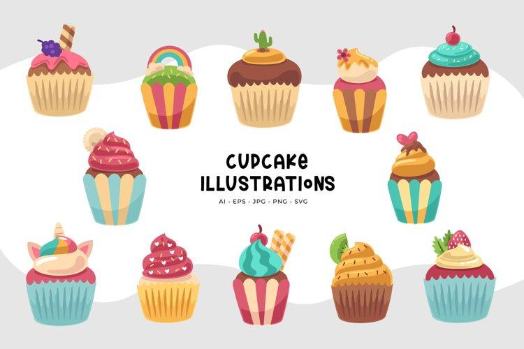 Cupcake Illustrations