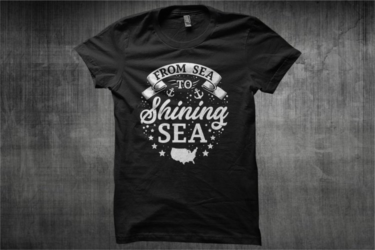 Typography American Themes - From Sea To Shining Sea