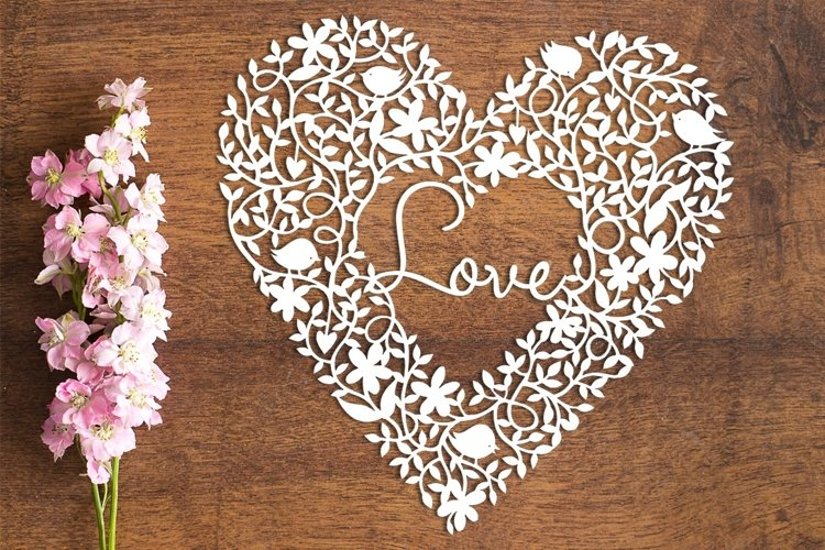 Love Heart - PDF Template for Paper Cutting by hand