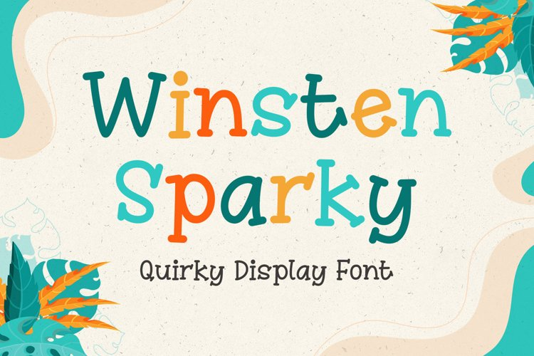 Quirky Display Font - Winsten Sparky example image 1