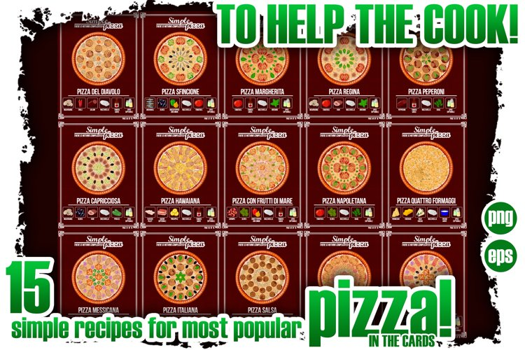 To help the cook. 15 simple recipes for pizza.