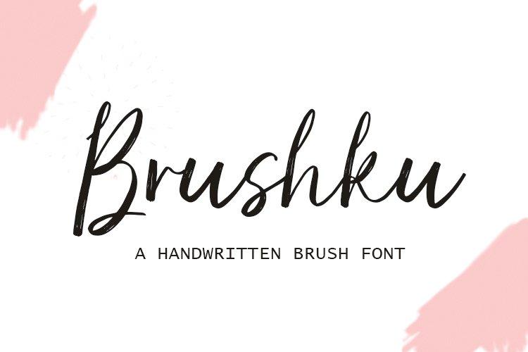 Brushku | Handwritten Script example image 1