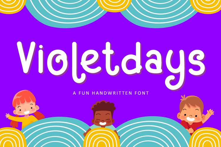 Violetdays - A Fun Handwritten Kids Font example image 1