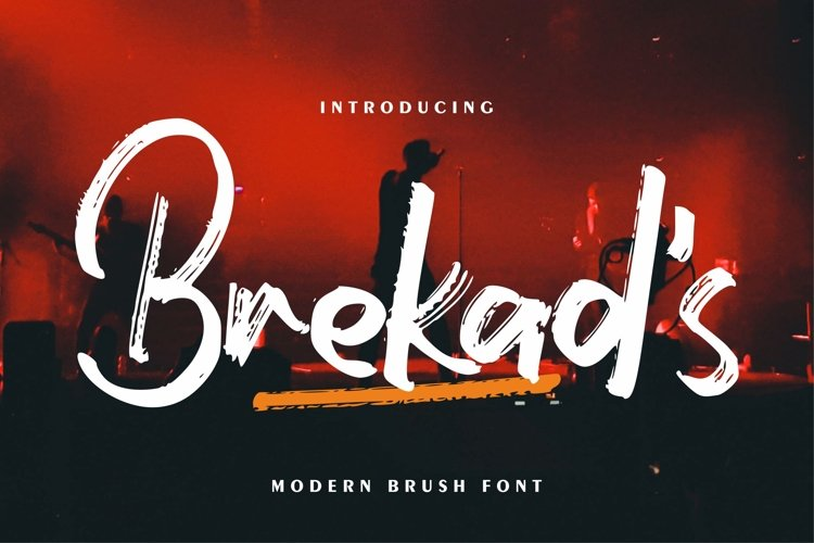 Brekad's | Modern Brush Font example image 1