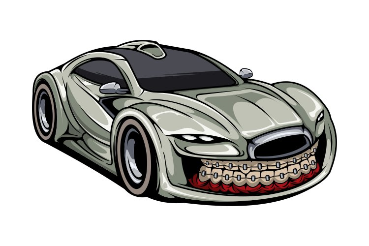 Sport car tshirt design example image 1