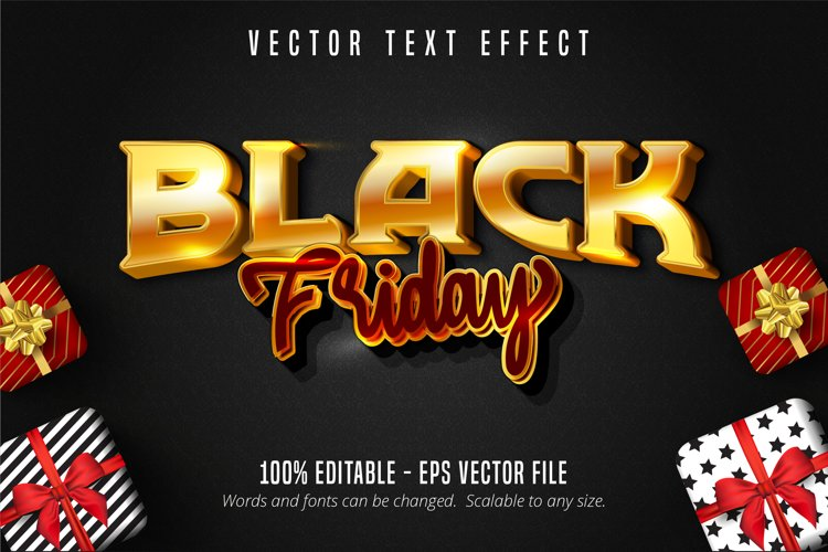 Black friday text, editable text effect. example image 1