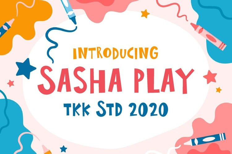 Sasha Play - Funny and Cute Comic Font example image 1