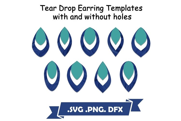 Tear Drop Earring SVG Templates example image 1
