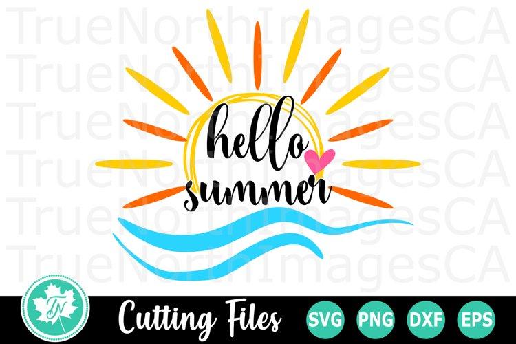 Hello Summer - A Summer SVG Cut File