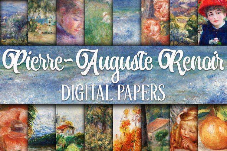 Renoir Paintings Digital Papers example image 1