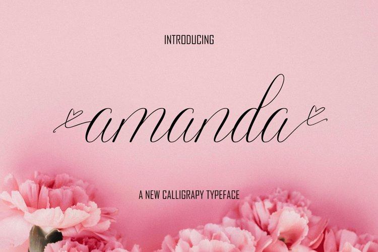 Amanda Script example image 1