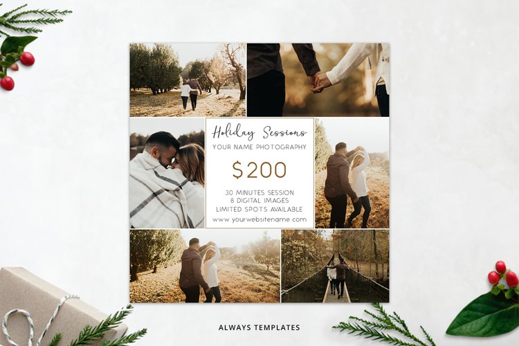 Holiday Sessions Template PM012 example image 1