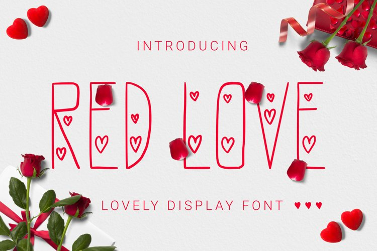 Redlove Font example image 1