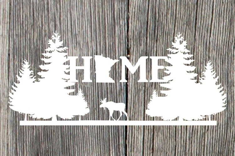 Minnesota HOME with moose and pine trees example image 1