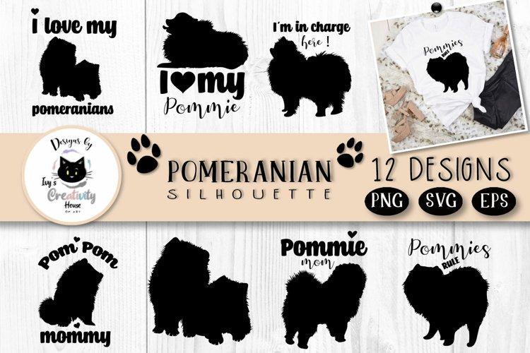 Pomeranian Spitz Dog Silhouette   Dog SVG Clipart Bundle example image 1