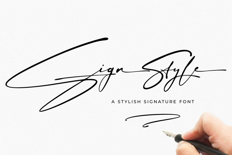 Sign Style | Signature font example image 1