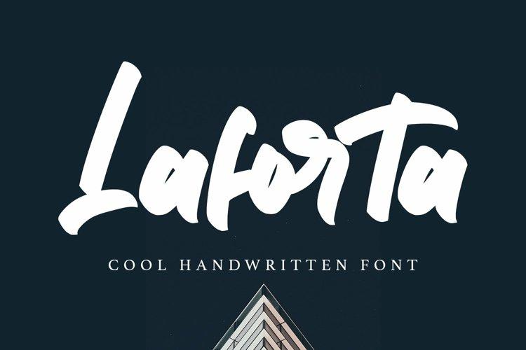 Web Font Laforta - Script Bold Fonts example image 1