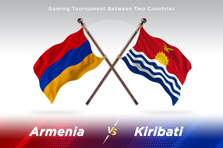 Armenia versus Kiribati Two Flags example image 1