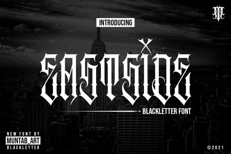 Eastside | Blackletter font example image 1